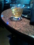 A little victory drink... It's not every day I have meetings with BIG studio execs!