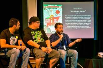 Hometown Heroes Comic Panel