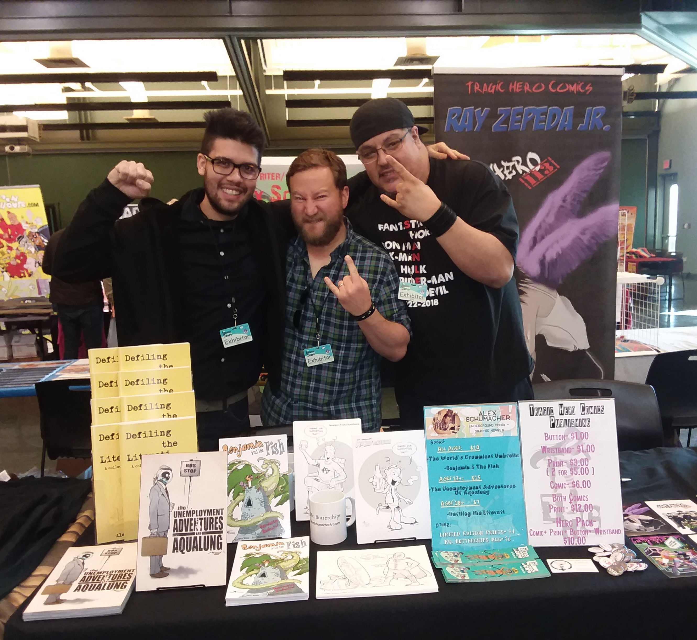 Alex Schumacher at Latino Comic Book Expo